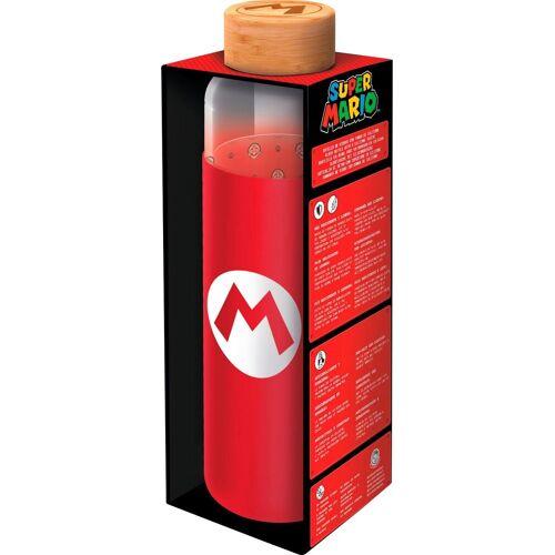 Trinkflasche »Super Mario Glasflasche mit Silikon (585 ml)«