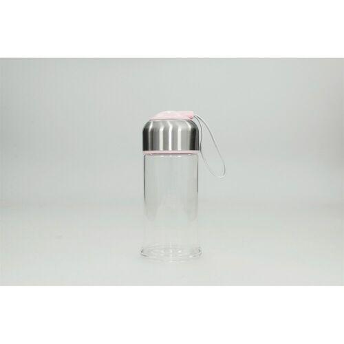HTI-Line Trinkflasche »Trinkflasche Glas«, Trinkflasche, Rosa