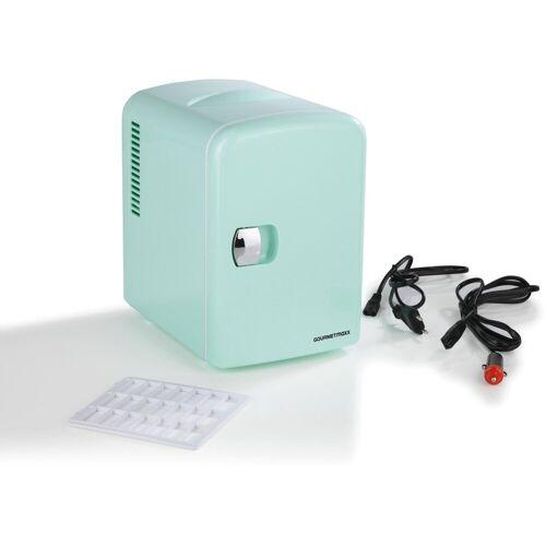 GOURMETmaxx Elektrische Kühlbox Mini-Kühlschrank Retro 45W mint, 4 l