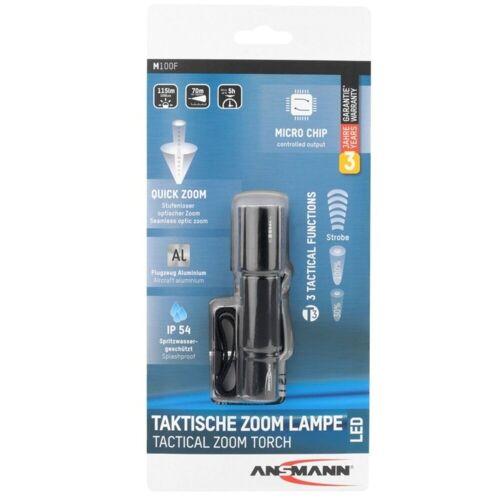 Ansmann LED Taschenlampe »Ansmann M100F die taktische Taschenlampe mit stufe«