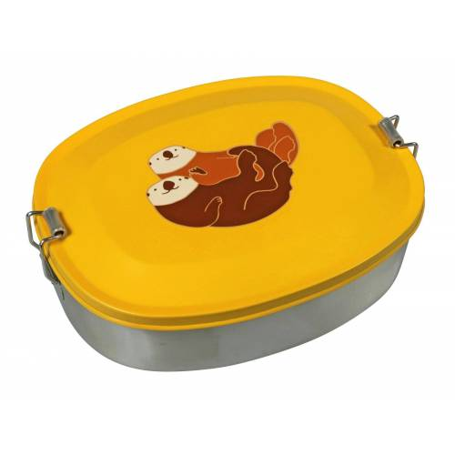 Capventure Lunchbox »Brotdose Lunchbox Brotbox Kinder Edelstahl Motiv Tiere The Zoo Motiv: Seeotter«, Seeotter