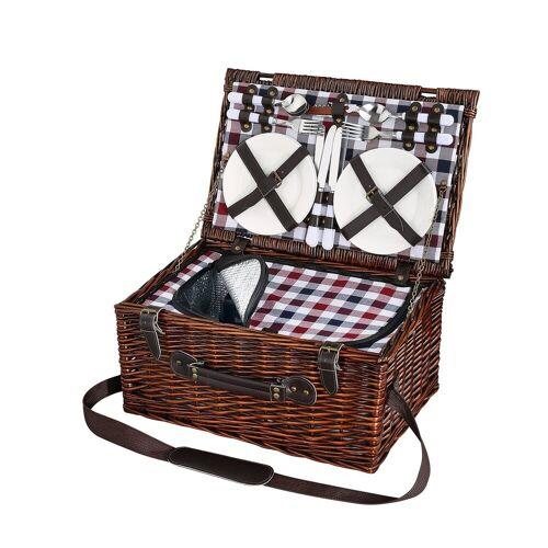 Cilio Picknickkorb »Picknickkorb für 4 Personen VARESE«, Picknickkorb