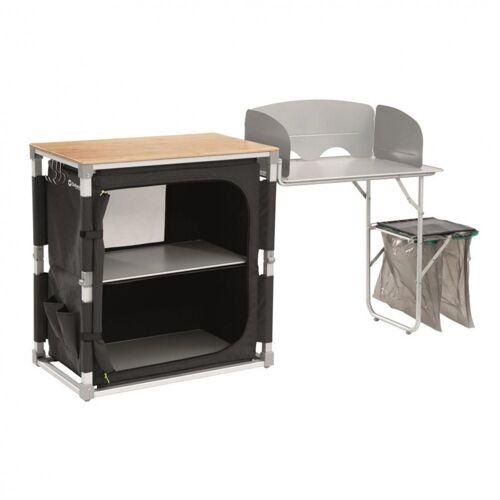 Outwell Campingtisch »Padres Küchentisch mit Bambus Tischplatte & Side Unit«