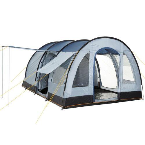 """CampFeuer Tunnelzelt »Tunnelzelt """"TunnelX"""", grau / blau, Familienzelt 5000 mm«"""