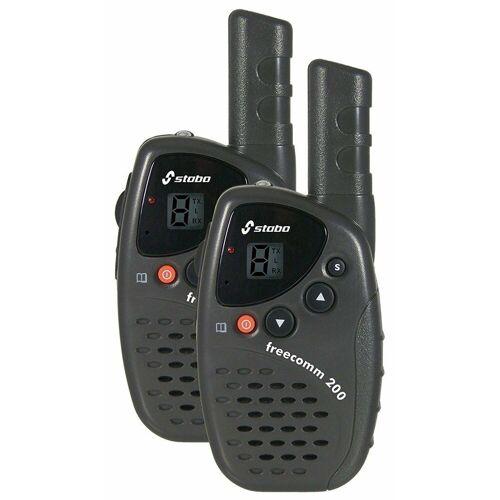 Stabo Funkgerät »freecomm 200 Set PMR-446 Funkgerät schwarz«