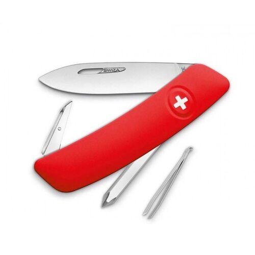 SWIZA Messer »Taschenmesser D02 – 6 Funktionen«, Rot