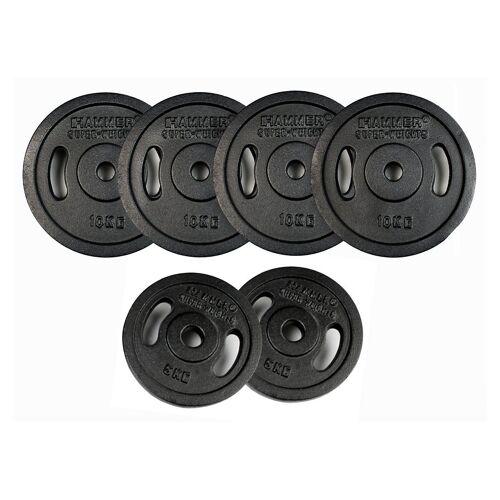 Hammer Gewichteplatten »Gewichte-Set, ®«, 60 kg, (Set, 8-tlg)