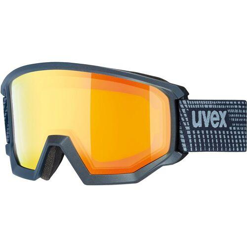 Uvex Skibrille »Skibrille athletic FM lime mat dl/blue-blue«, dunkelblau
