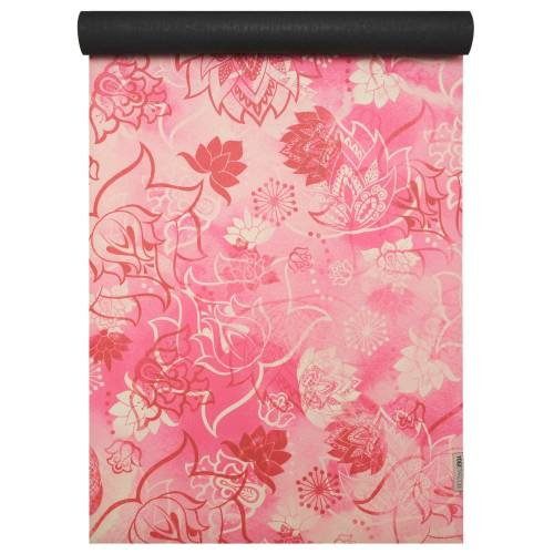Yogistar Yogamatte »travel art collection«, lotus rose-red