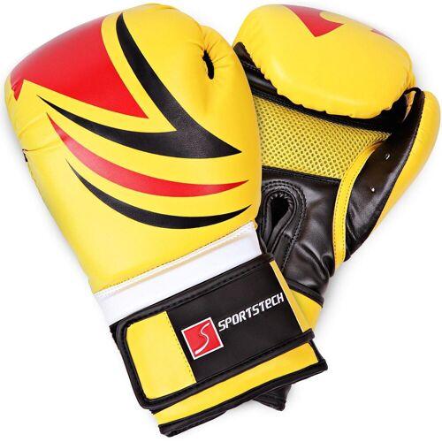 Sportstech Boxhandschuhe (mit Tasche), gelb