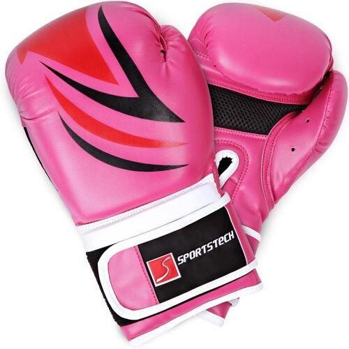 Sportstech Boxhandschuhe (mit Tasche), pink