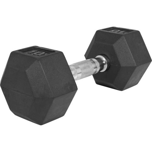 GORILLA SPORTS Kurzhantel »Hexagon Kurzhantel Gummi 10 kg«, 10 kg