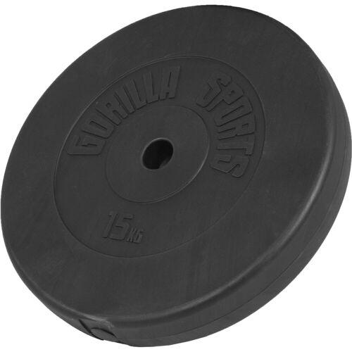 GORILLA SPORTS Hantel »Hantelscheibe Kunststoff 15 kg«, 15 kg
