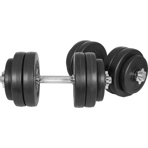 GORILLA SPORTS Kurzhantel »Kurzhantelset Kunststoff 30 kg«, 30 kg, (Spar-Set, 16-tlg., mit Kurzhantelstangen)