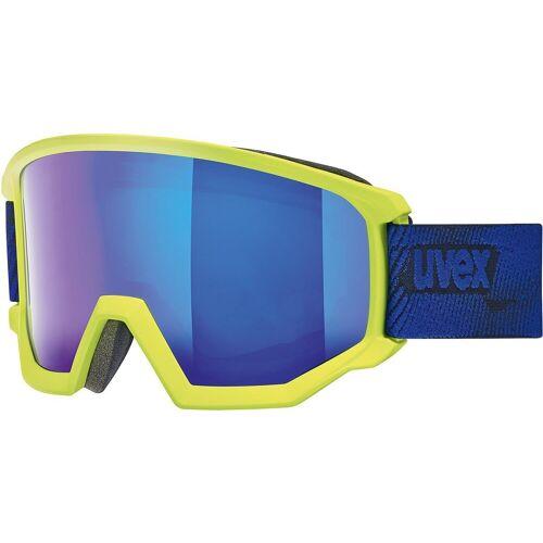 Uvex Skibrille »Skibrille athletic FM lime mat dl/blue-blue«, lime