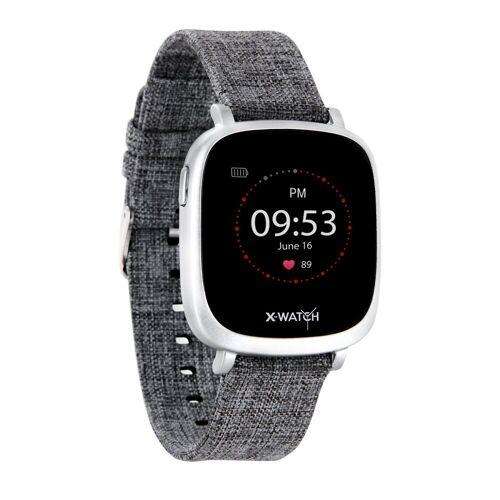 X-Watch IVE XW FIT Smartwatch, Grey Textil   Urban Grey