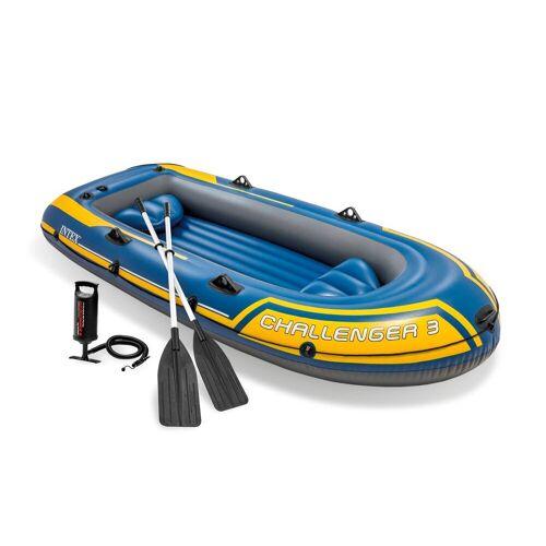 Intex Schlauchboot »Boot Set Schlauchboot Angelboot Ruderboot Challenger 3«, (1), 295 cm Länge, 137 cm Breite, 43 cm Höhe