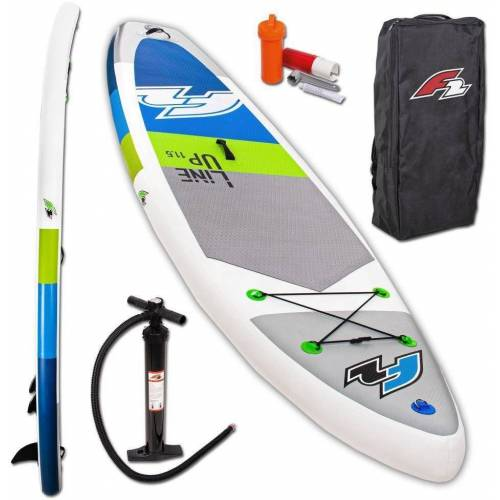 F2 Inflatable SUP-Board »Line Up SMO blue«, (Set, 3 tlg)