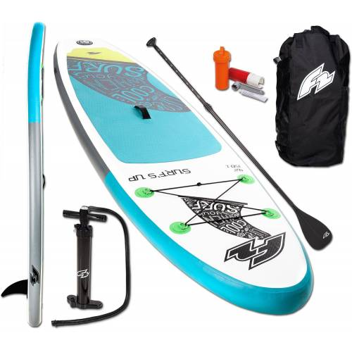 F2 Inflatable SUP-Board »Surf's Up Kids«, (Set, 5 tlg)