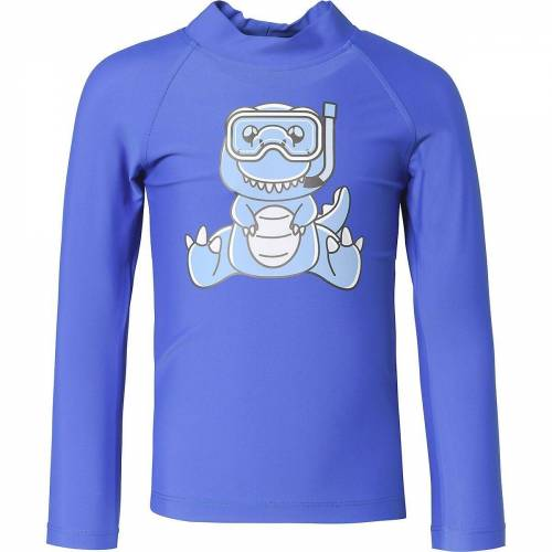 iQ Bade-Shirt »Mini T-Shirts UV 300 Shirt Kids Dino LS M«, blau