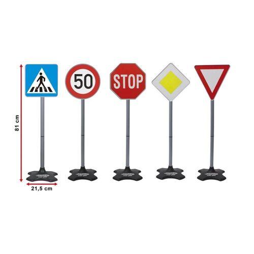 Jamara Spiel-Verkehrszeichen »Traffic Set Grand A« (5-tlg), Verkehrsschilder Schilder Schilderset Spielstraße Stoppschild Straßenschild