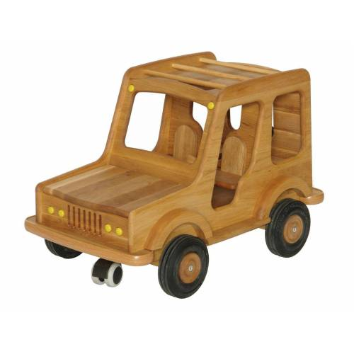 ERST-HOLZ Spielzeug-Auto »931-5005«, Großes Holzauto Geländewagen Puppenauto Safari-Fahrzeug Holz-SUV 931-5005