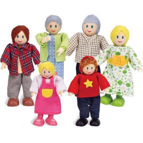 Hape Stoffpuppe »Puppenfamilie Helle Hautfarbe« (Set, 6-tlg)