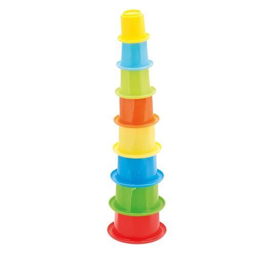 BIECO Stapelspielzeug »Stapelbecher Baby Bunter Stapelturm ab 1 Jahr Acht Kinder Becher zum Stapeln Turm Spiel Stacking Becher Stapelspiel ab 1 Jahr Stapelturm Baby Motorikspielzueg Stacking Cups«