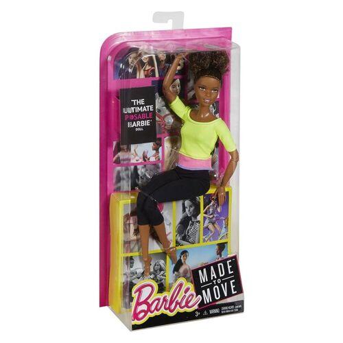 Mattel Anziehpuppe »Mattel DHL83 - Barbie - Made to Move - Puppe mit gelbem Top«