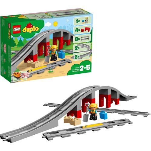 Lego Konstruktionsspielsteine »Eisenbahnbrücke und Schienen (10872), DUPLO® Town«, (26 St), Made in Europe