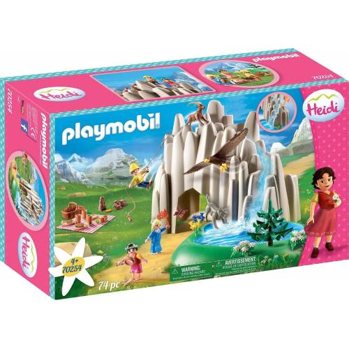 Playmobil Konstruktions-Spielset »Am Kristallsee mit Heidi, Peter und Clara (70254), Heidi«, (74 St), Made in Germany