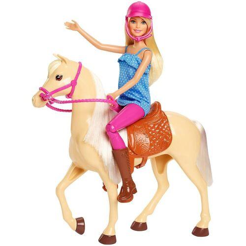 Mattel Anziehpuppe »Barbie® Pferd mit Puppe (blond), Anziehpuppe,«