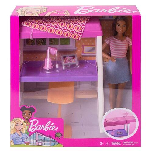Mattel Puppen Accessoires-Set »Mattel FXG52 - Barbie - Deluxe-Set - Möbel, Hochbett mit Schreibtisch und Puppe«