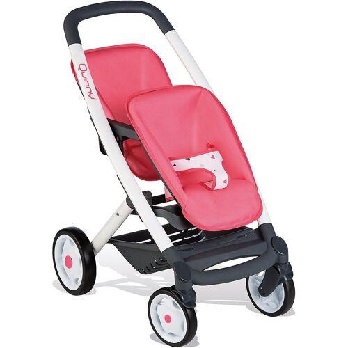 Smoby Puppenwagen »Quinny Zwillings-Sport-Puppenwagen, pink/weiß«
