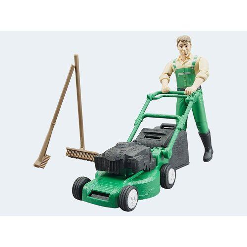 Bruder® Spielzeug-Auto »bworld Gärtner mit Rasenmäher und Gartengeräten«