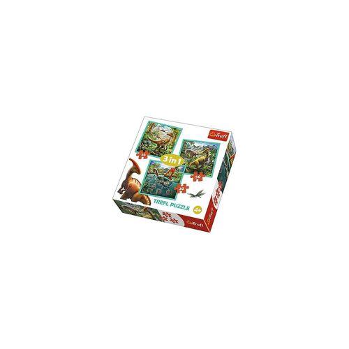Trefl Puzzle »3in1 Puzzle - 20/36/50 Teile - Dinosaurier«, Puzzleteile