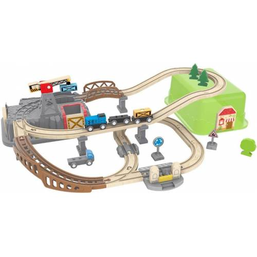 Hape Spielzeug-Eisenbahn »Eisenbahn-Baukasten«, (Set, 50-tlg)