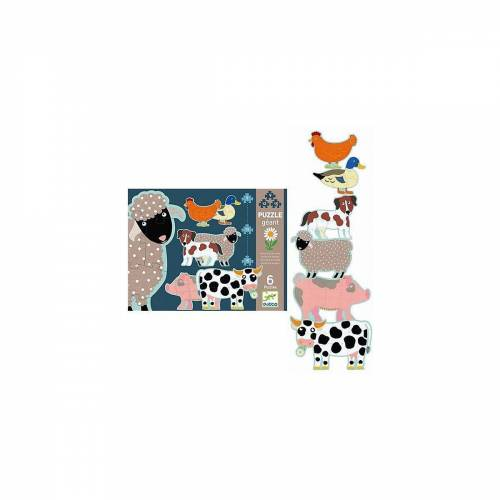 DJECO Puzzle »Riesen-Puzzle Bauernhof, 36 Teile«, Puzzleteile