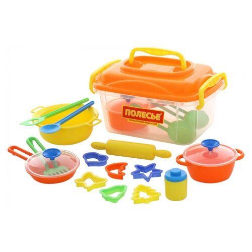 Polesie Spielgeschirr »Spielzeug 56634, 20-teiliges Koch- und Backzubehör-Set«, Kinderküche