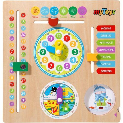 myToys Lernspielzeug »Kalenderuhr aus Holz«