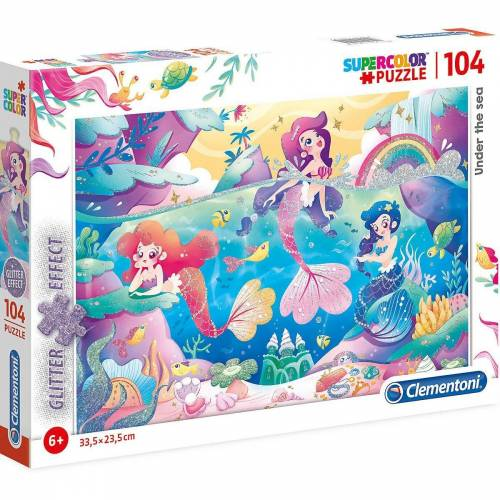 Clementoni® Puzzle »Glitter Effect Puzzle 104 Teile - Unterwasser«, Puzzleteile