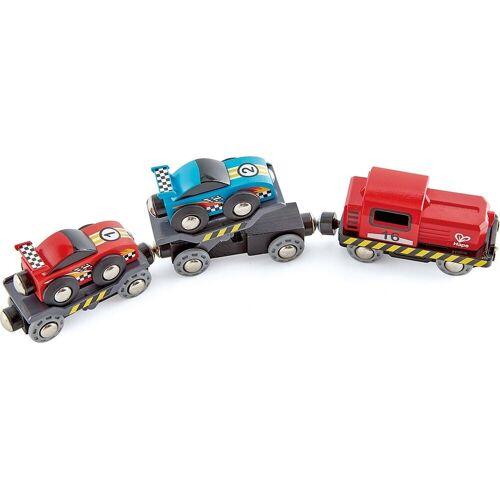 Hape Spielzeug-Eisenbahn »Rennwagen-Transporter«