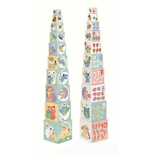 DJECO Stapelspielzeug »Stapelturm BabyBloki«