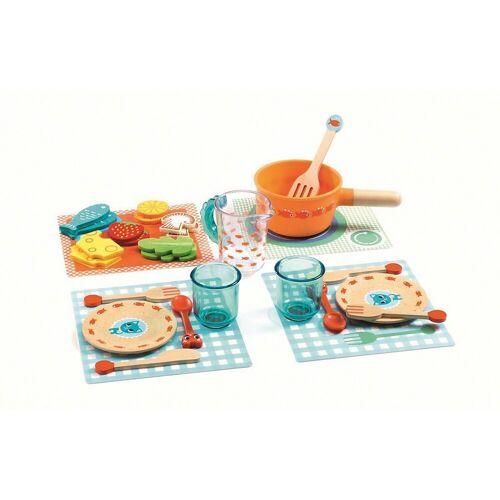DJECO Spielgeschirr »Rollenspiel Kinderküche - Alle Katzen zu Tisch,«