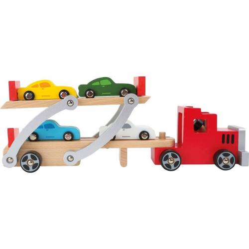 Small Foot Spielzeug-Auto »Autotransporter«, (6-tlg)