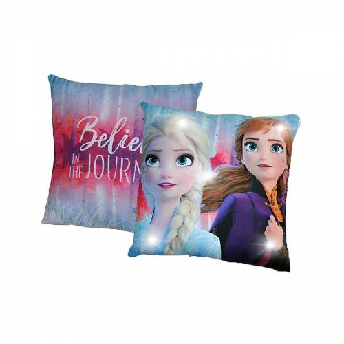 Disney Frozen Dekokissen »Die Eiskönigin, Kissen mit LED, 40 x 40 cm«