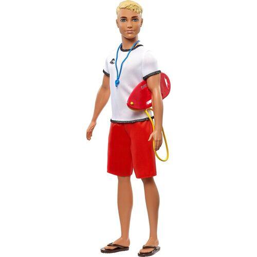 Mattel Anziehpuppe »Barbie Ken Career Puppe Rettungsschwimmer«, rot-kombi