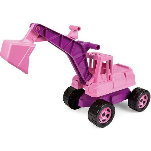 Lena® Spielzeug-Aufsitzbagger »GIGA TRUCKS Sitzbagger, rosa, ca. 70 cm«
