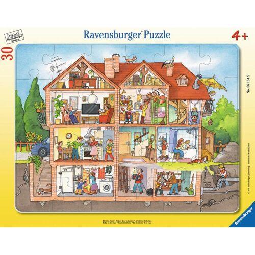 Ravensburger Rahmenpuzzle »Blick Ins Haus - Rahmenpuzzle«, 30 Puzzleteile