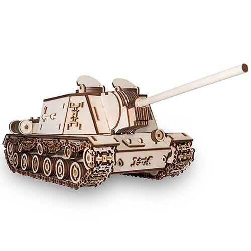 ECO Wood Art 3D-Puzzle »ISU-152 – Panzer – mechanischer Modellbausatz aus Holz«, Puzzleteile